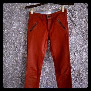 Habitual size 24 coated leather red jeans